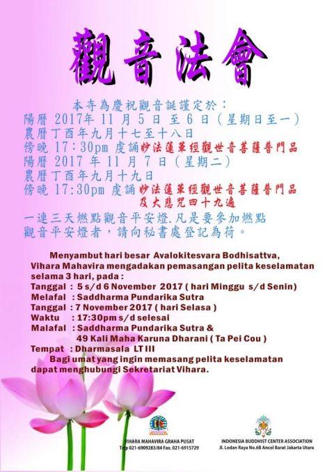 Yuk! Datang dan Ikuti Peringatan Hari Suci Avalokitesvara Bodhisattva